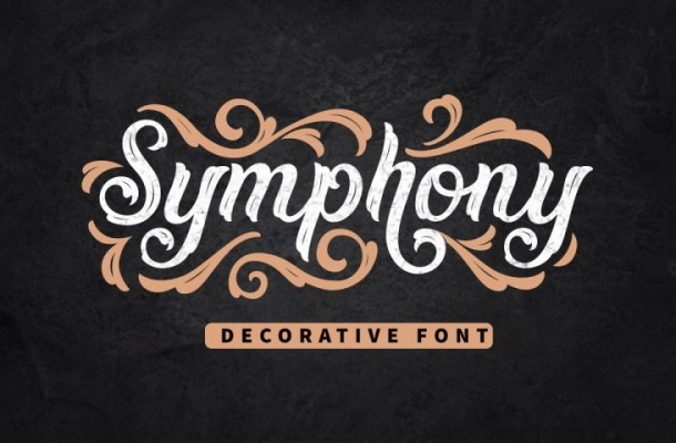Symphony Decorative Display Font