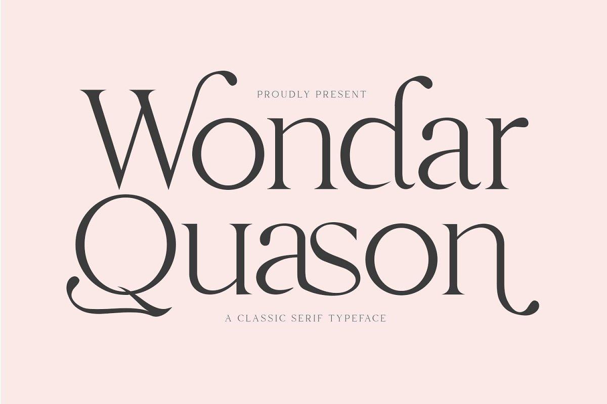 Wondar Quason Classic Serif Typeface-1
