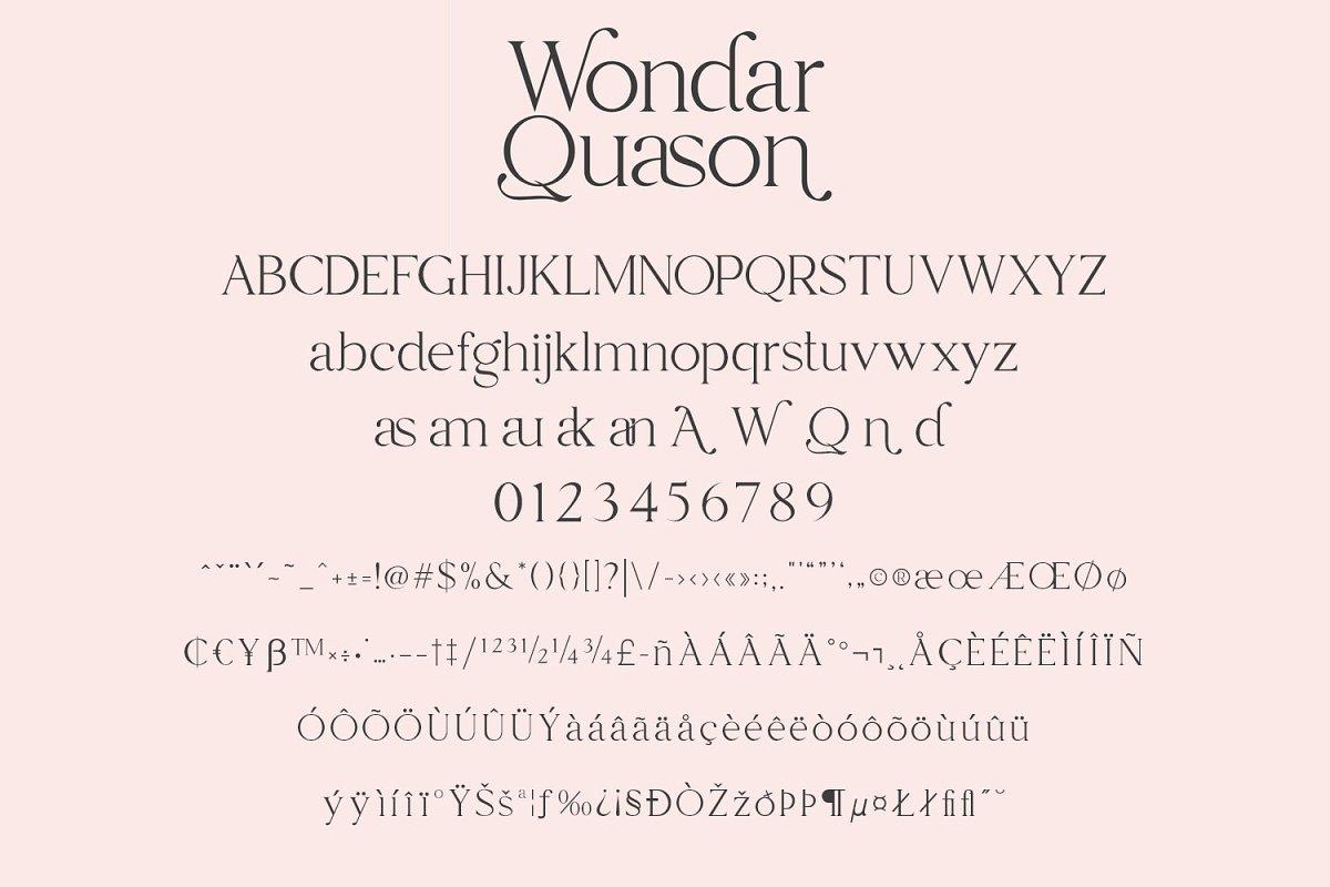 Wondar Quason Classic Serif Typeface-3