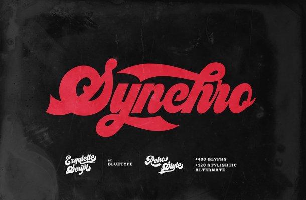 Synchro Retro Bold Script Font