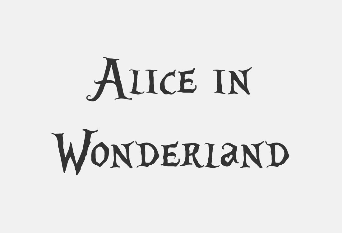 10 Alice in wonderland