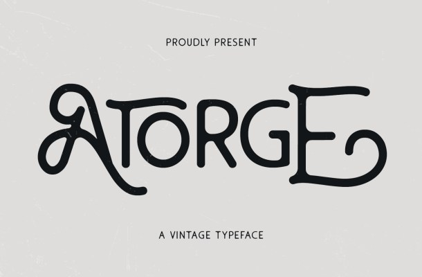 Atorge Typeface