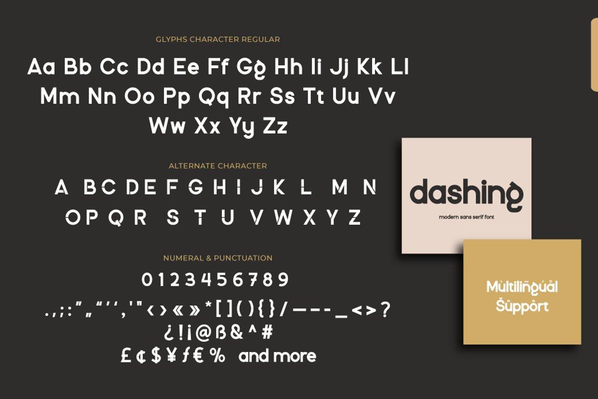 Dashing Font-3