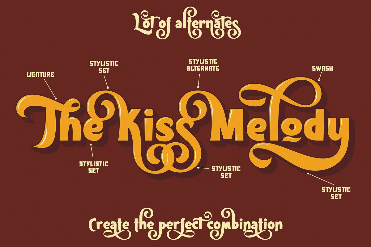 Kiss Melody Font-2