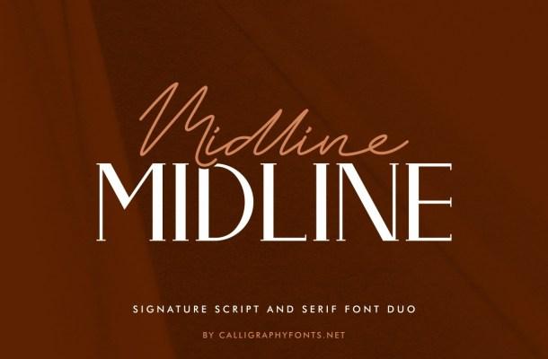 Midline Font Duo