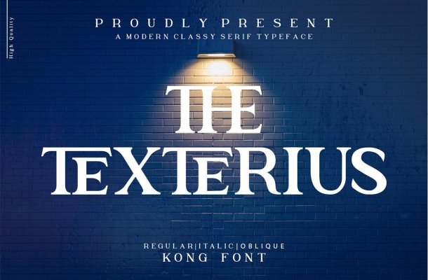 The Texterius Typeface