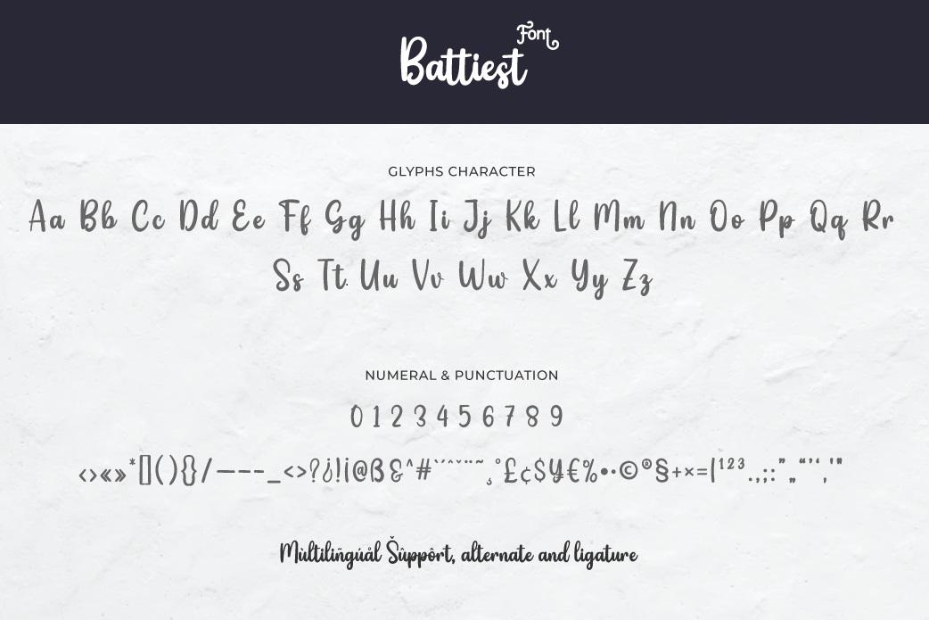 Battiest Font-3