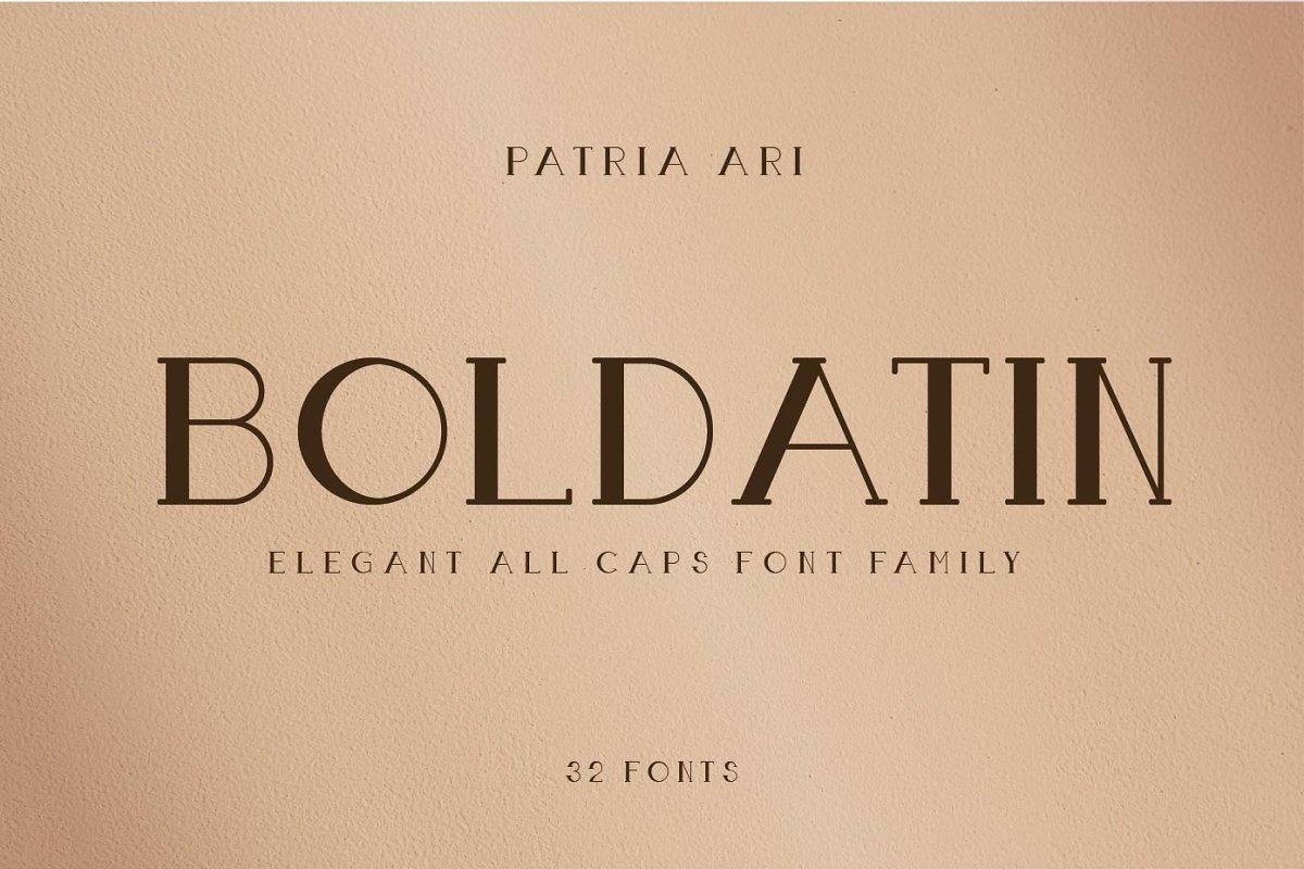 Boldatin Font