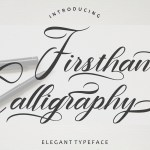 Firsthand Calligraphy Font