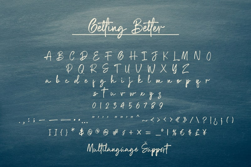 Getting Better Font-2