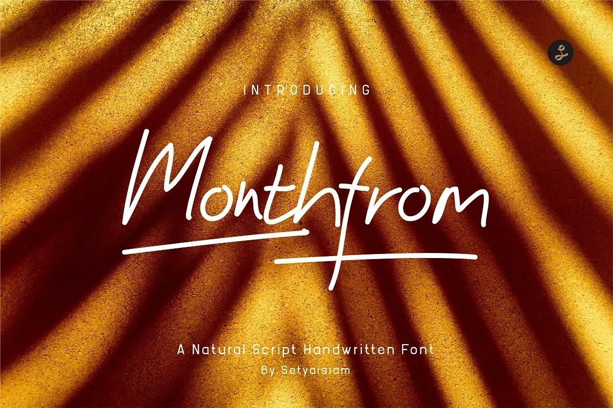 Monthfrom-Handwritten-Font-1