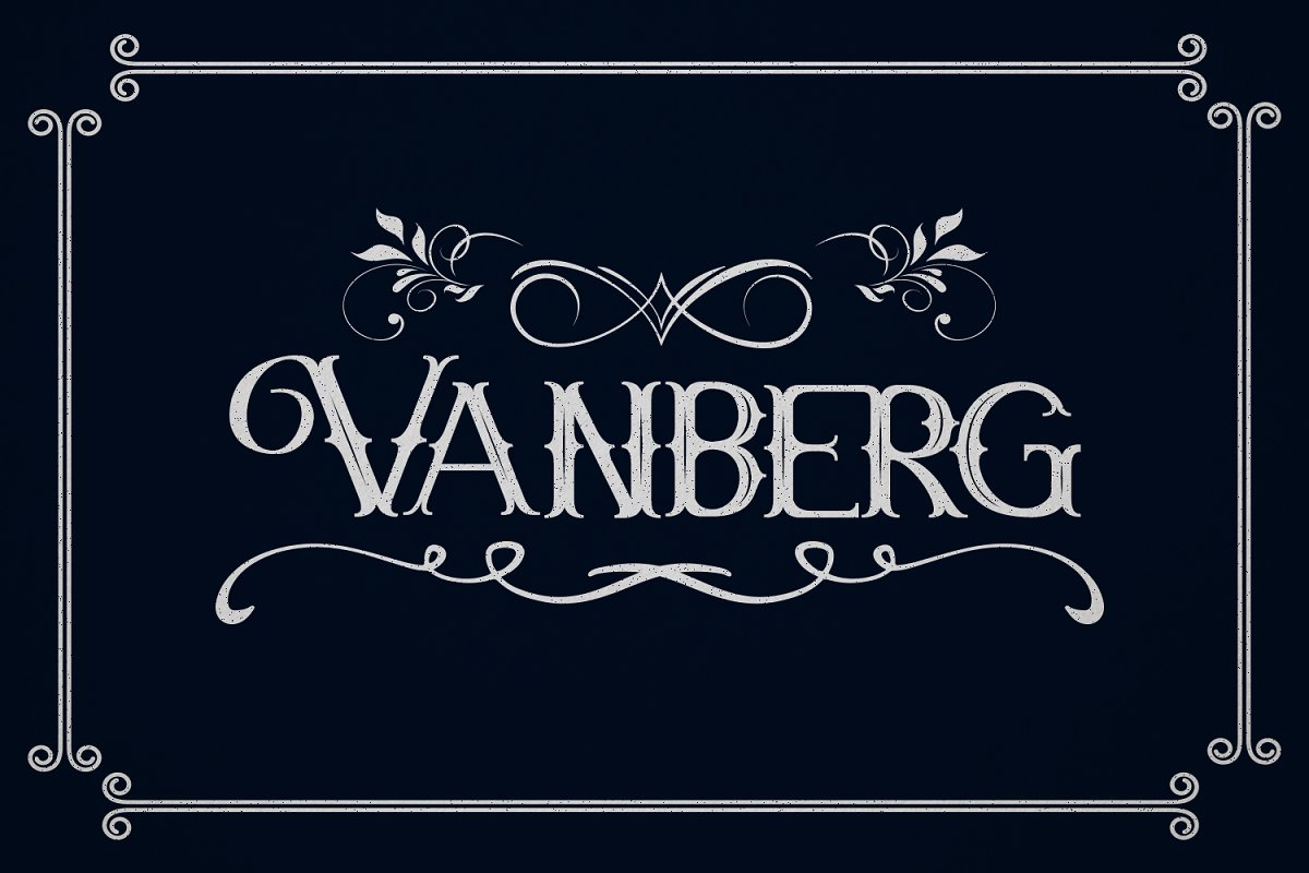Vanberg Font-1