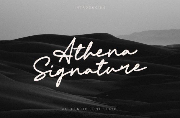 Athena Signature Font-1