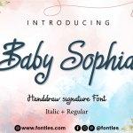 Baby Sophia Font