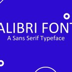 Calibri Font