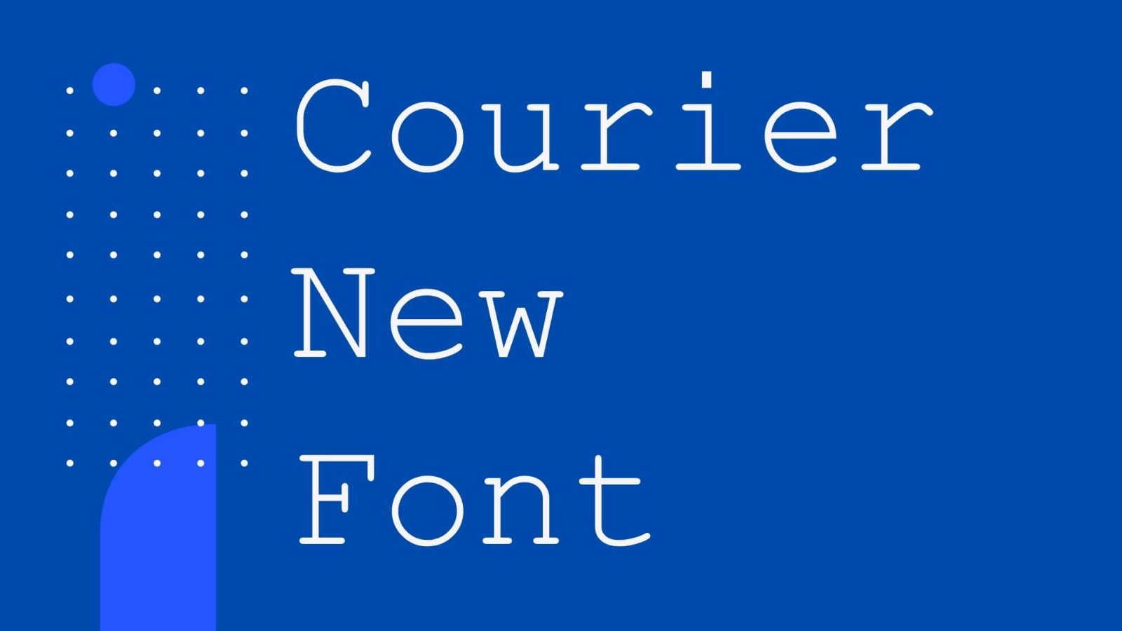 Courier New Font-3