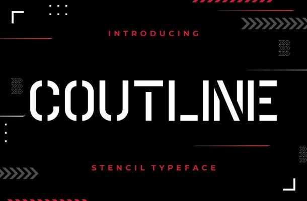Coutline Typeface