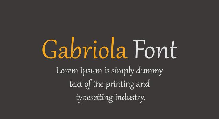 Gabriola Font