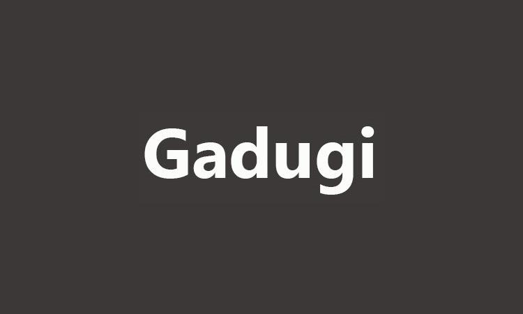 Gadugi Font-3