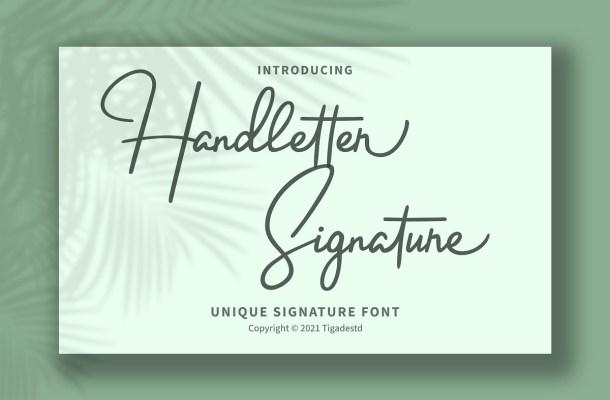 Handletter Font