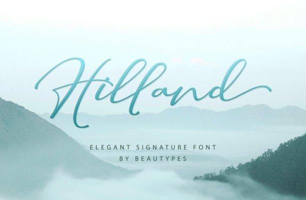 Hilland Font
