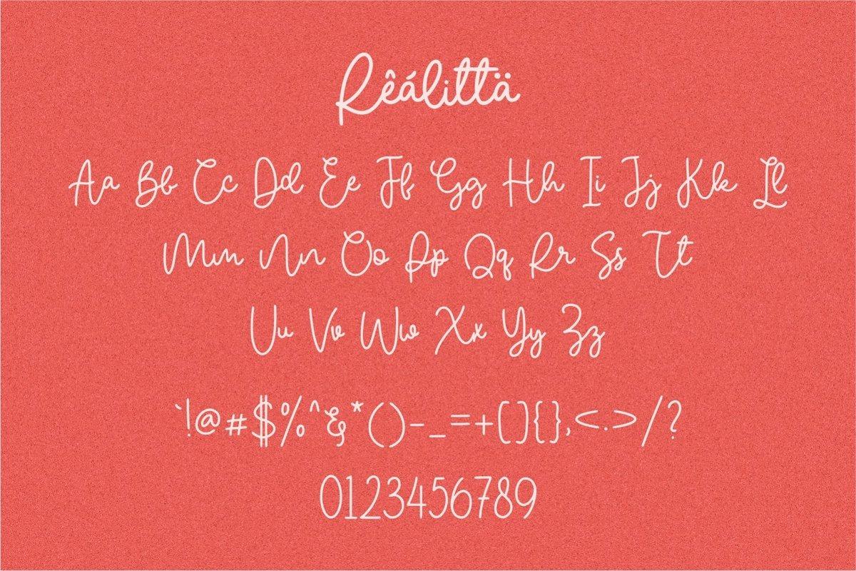 Realitta Font-3