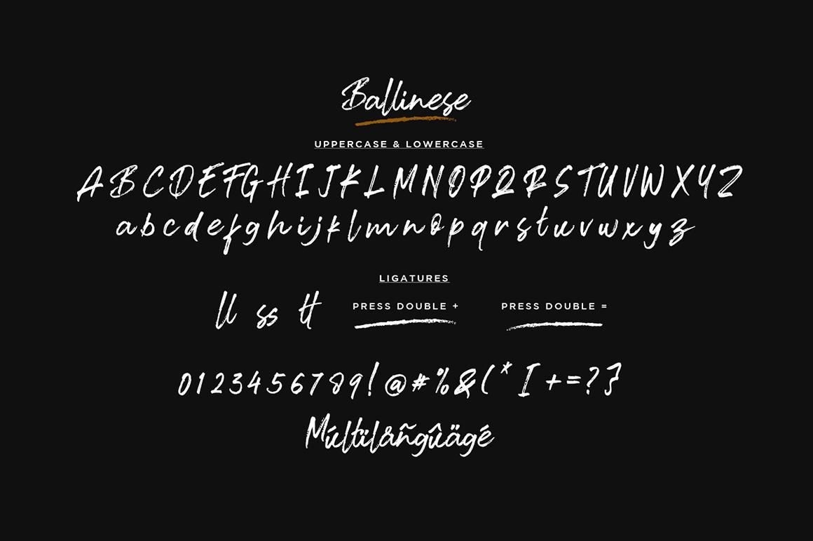 Ballinese Font-3