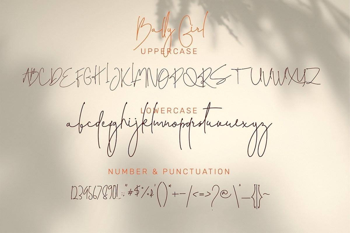 Bally Girl Font-3