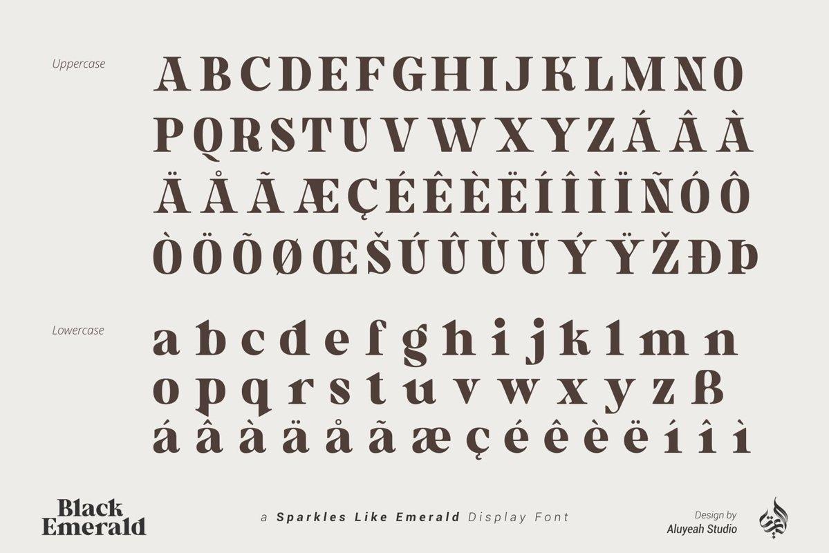 Black Emerald Font-2