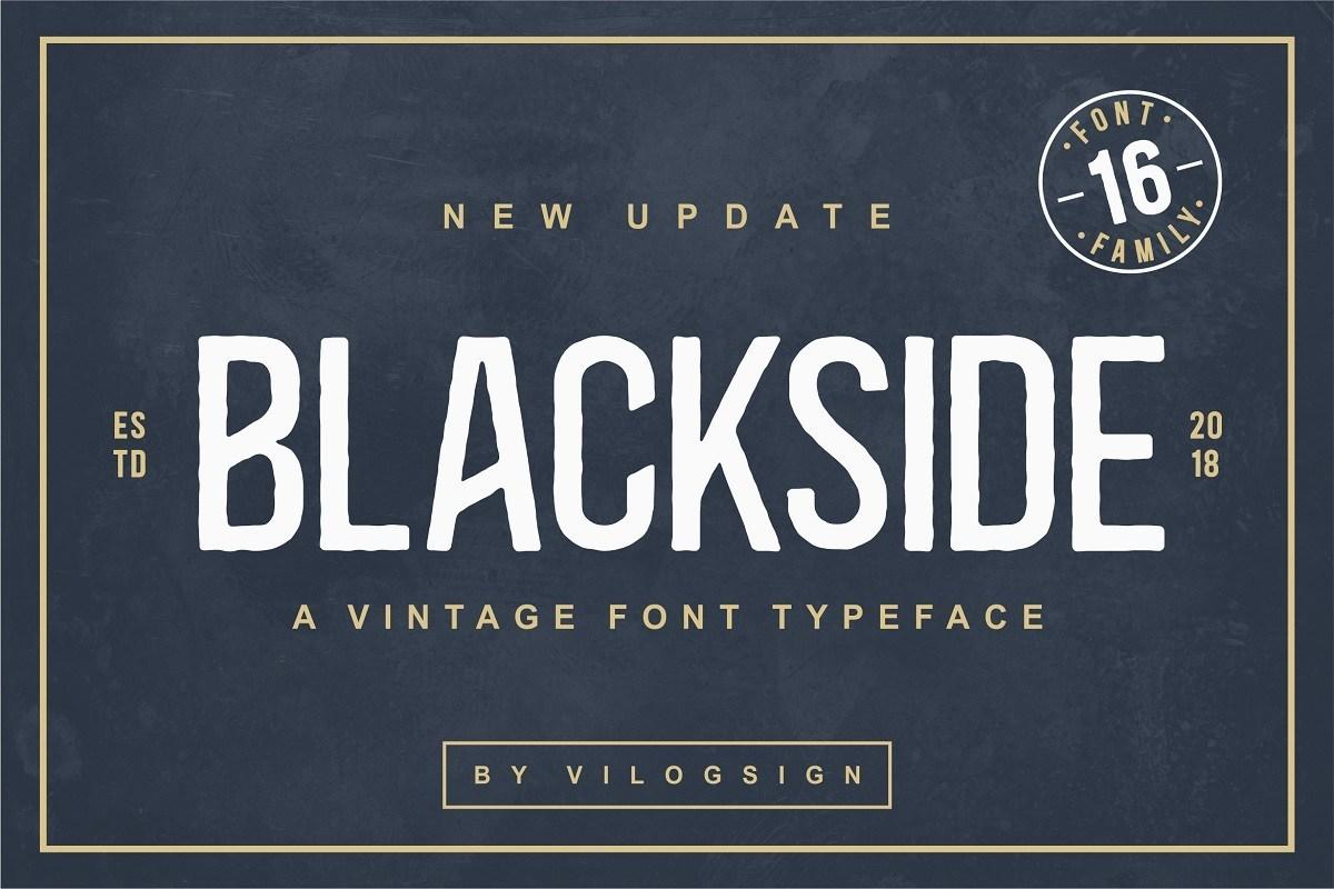 Blackside Font