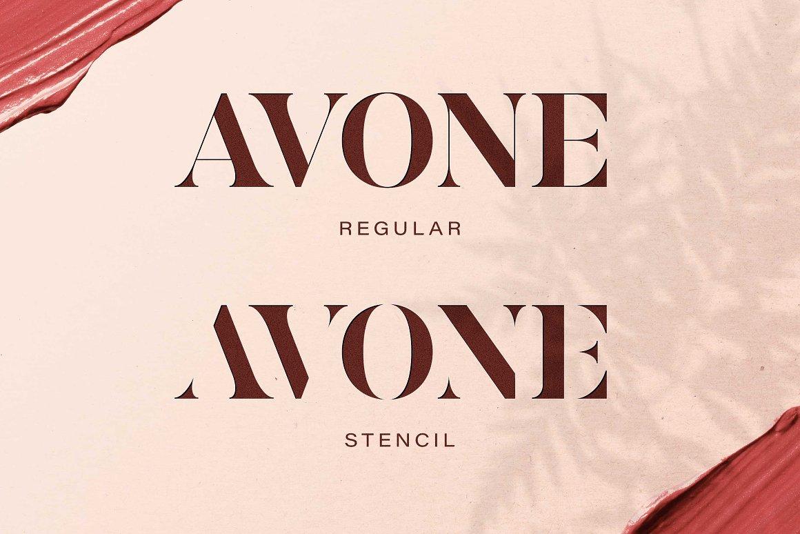 AVONE Font-2