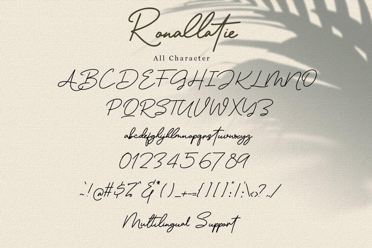 Ronallatie Font-3