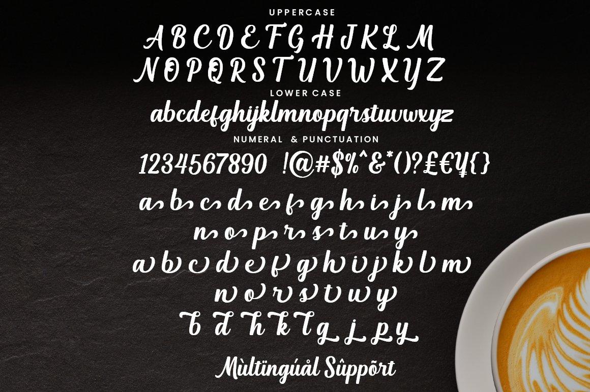 Vanilla Macchiato Font-3