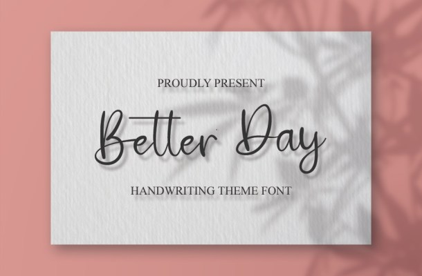 Better Day Font