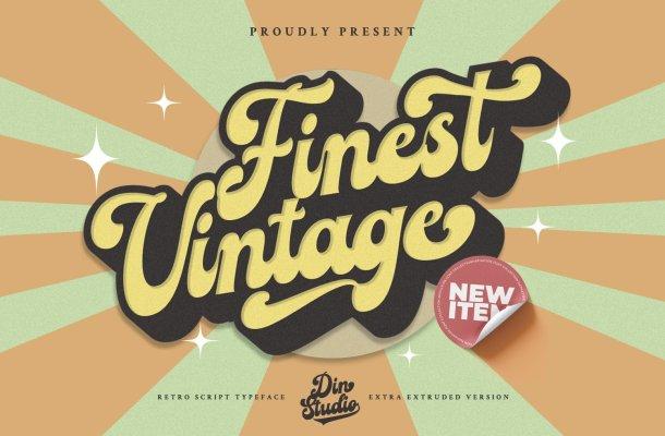Finest Vintage Font