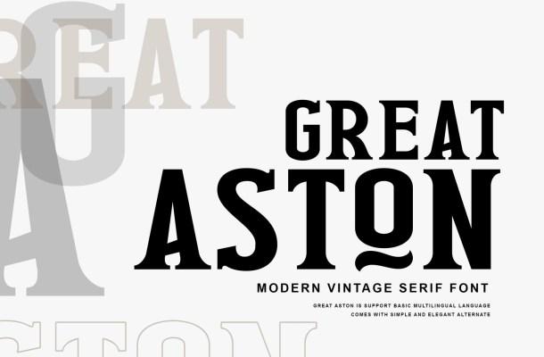 Great Aston Font