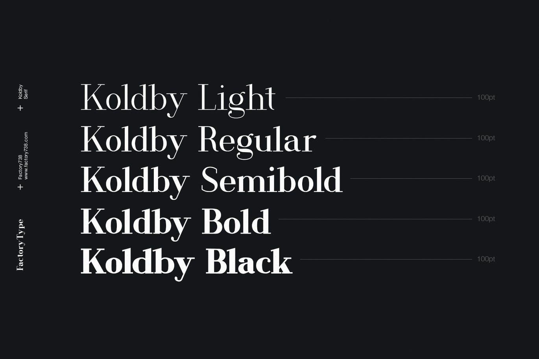 Koldby Font-2