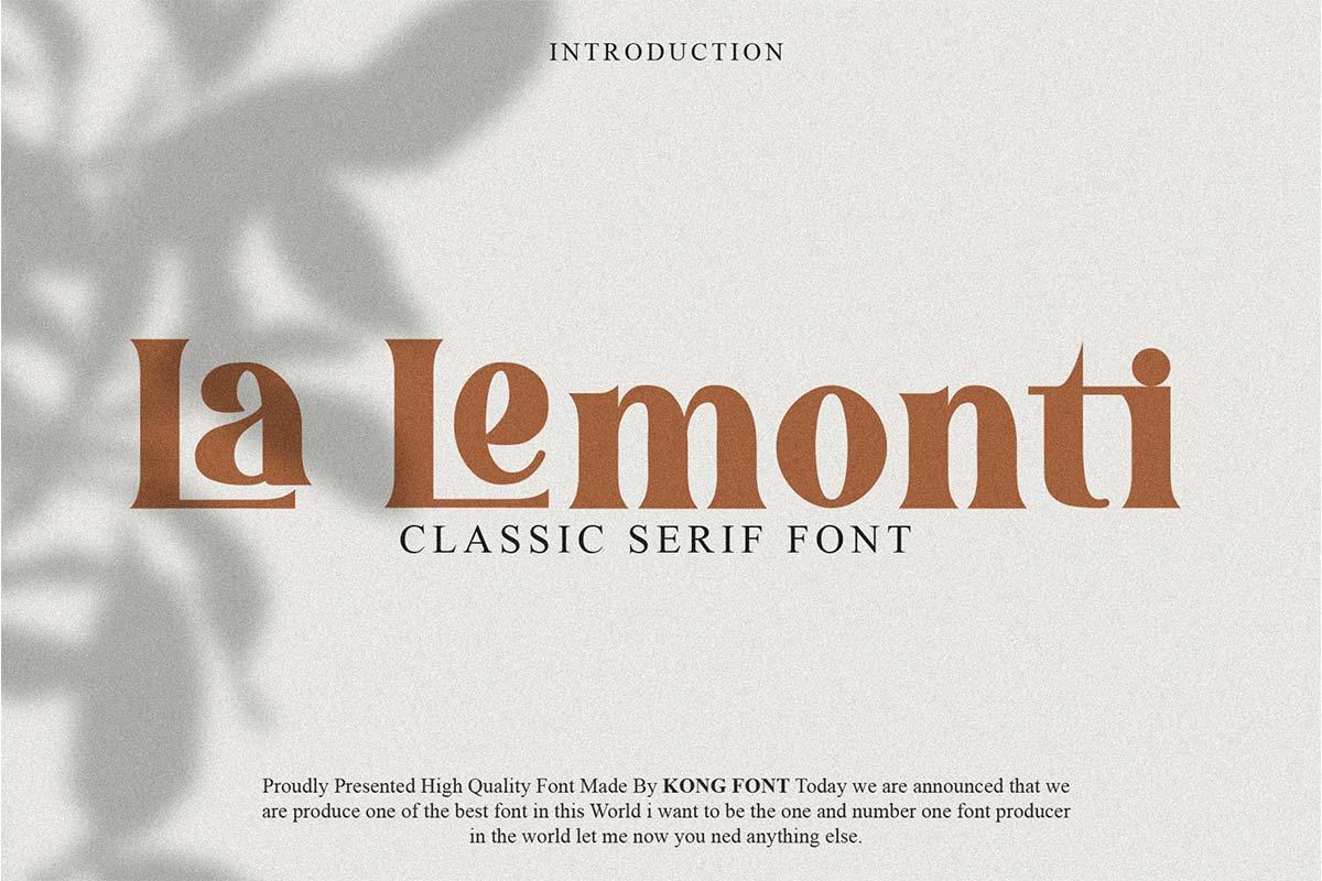 La Lemonti Font