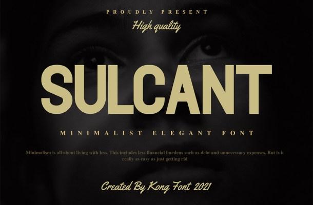 Sulcant Font