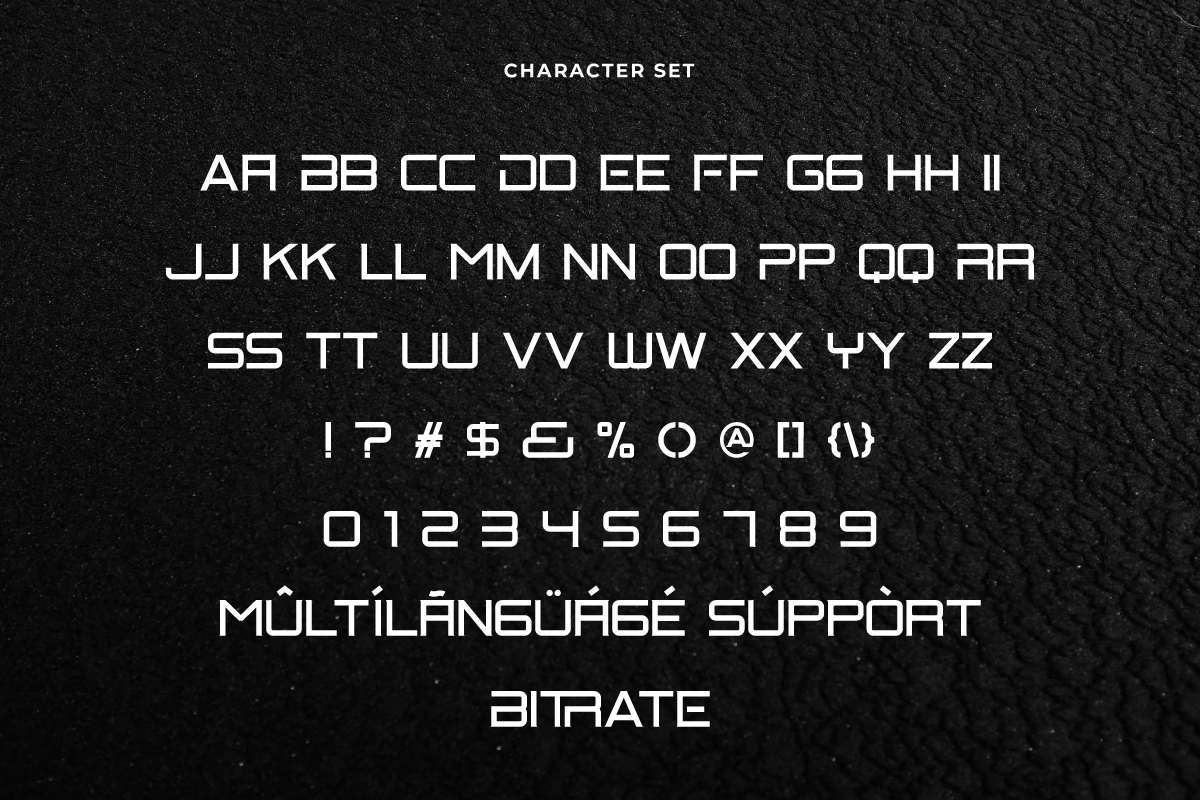 Bitrate Font-3