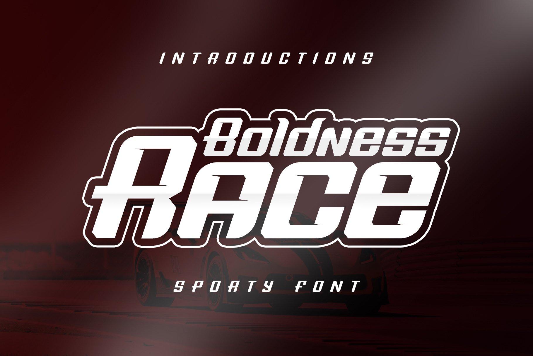 Boldness Race Font