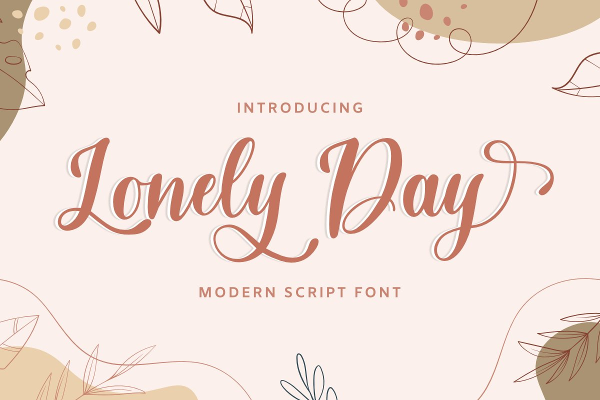 Lonely Day Font