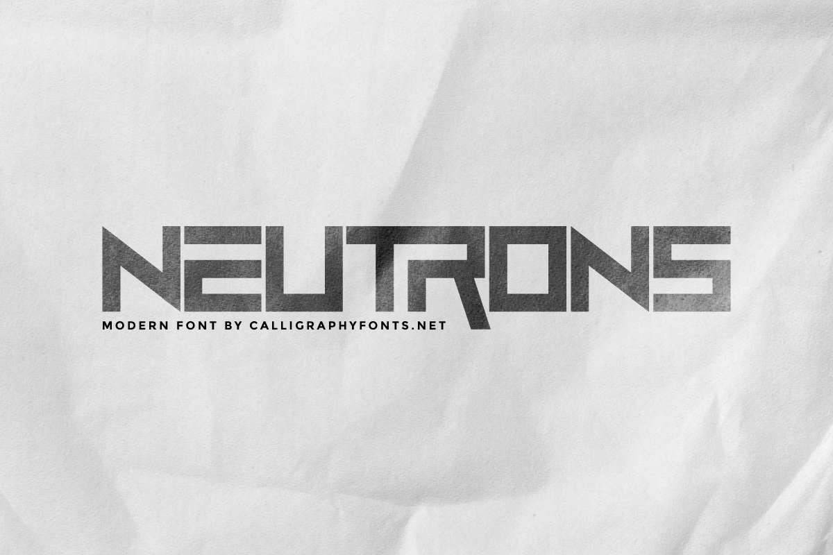 Neutrons Font