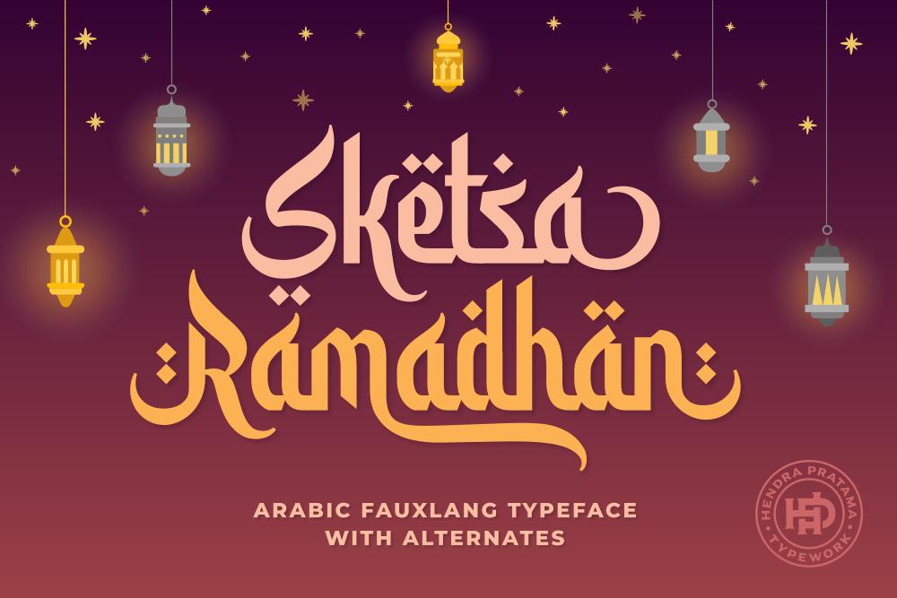 Sketsa Ramadhan Font