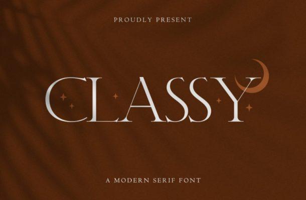 Classy Font