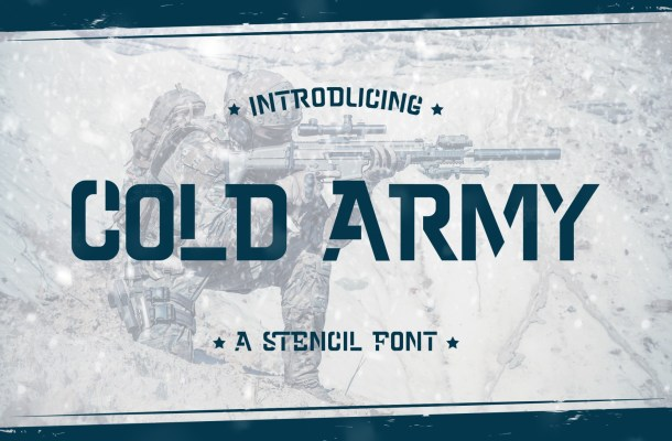 Cold Army Font