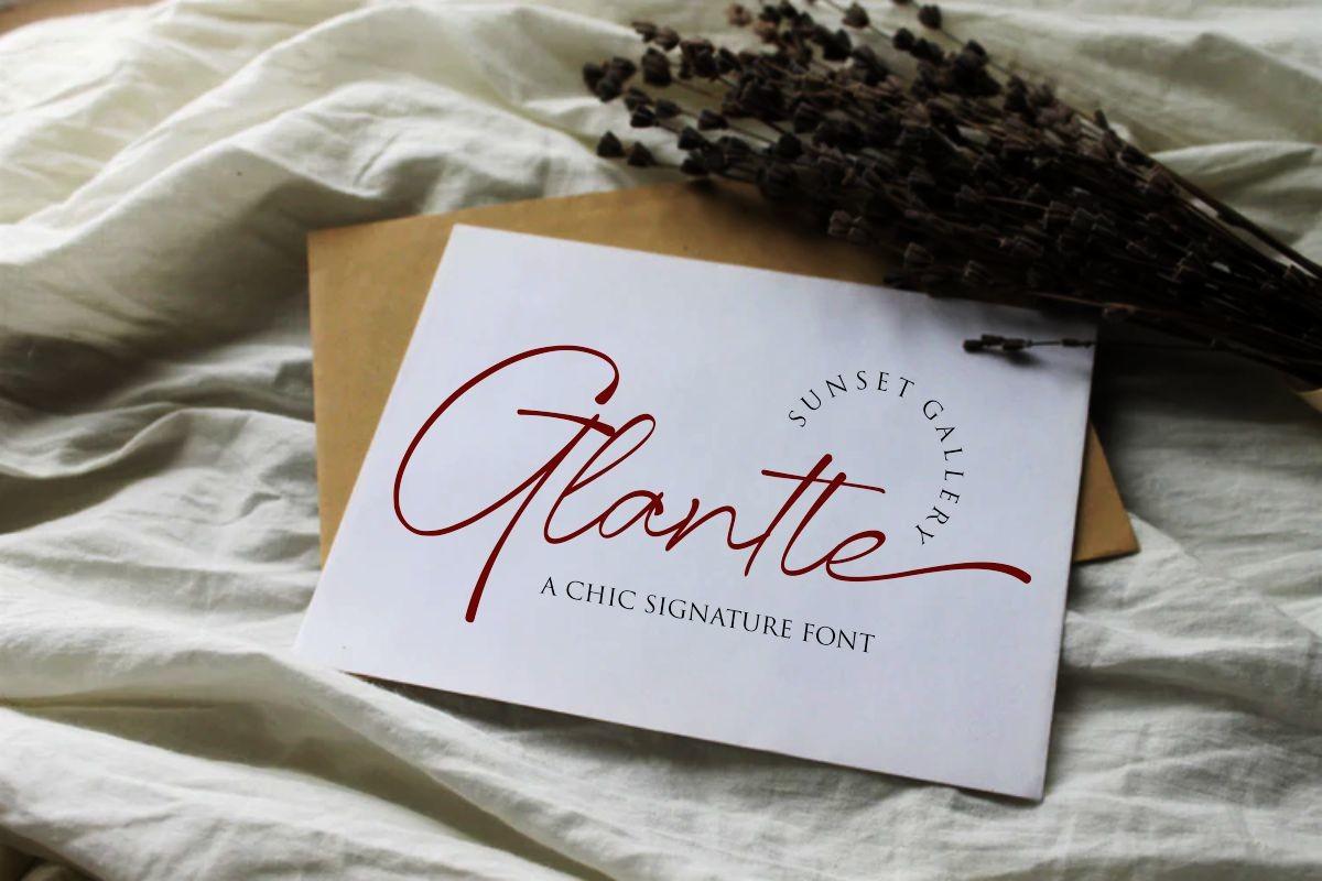 Glantte Font-2