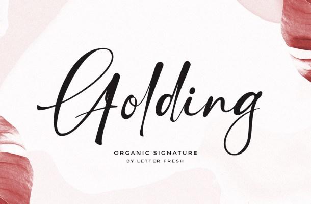 Golding Font
