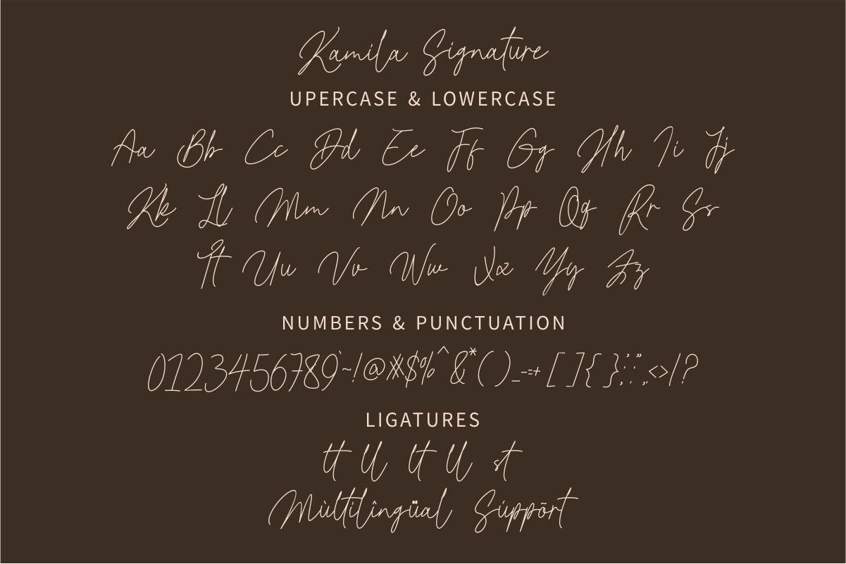 Kamila Signature Font-3