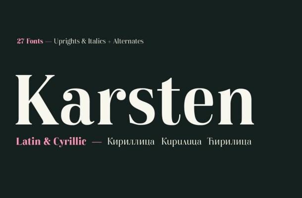Karsten Font Family